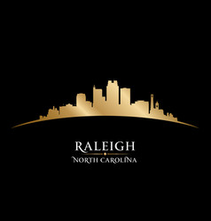 Raleigh north carolina city silhouette black vector