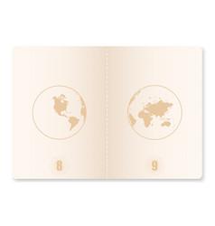 Realistic passport vector