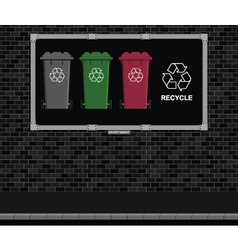 Recycling Advertising board vector image