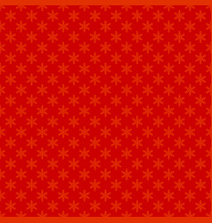 red seamless simple geometrical snow flake vector image