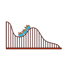roller coaster isolated icon vector image