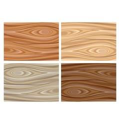 Set of wooden textures vector image vector image