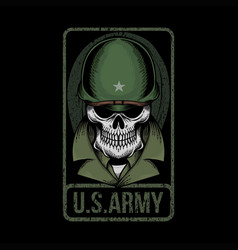 skull us army vector image