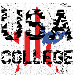 sport college athletic typography t-shirt graphics vector image