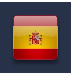 Square icon with flag of Spain vector