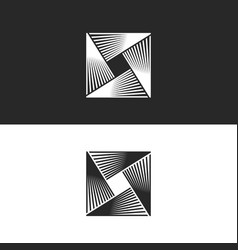 Square logo abstract geometric infinity shape vector