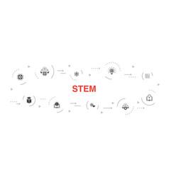 Stem infographic 10 steps circle designscience vector