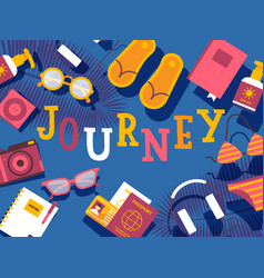 summer vacation journey vector image