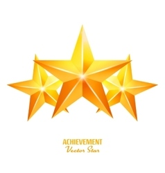 Three Achievement Stars Yellow Sign vector image