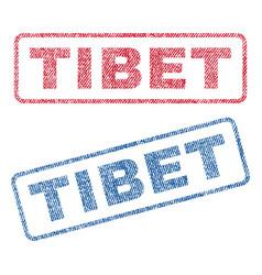 Tibet textile stamps vector