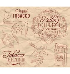 Tobacco brown vector