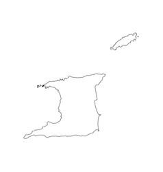 Trinidad and tobago map vector