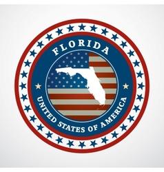 Vintage label Florida vector
