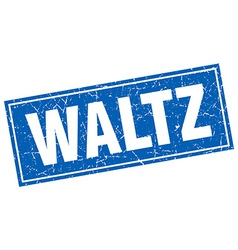 Waltz blue square grunge stamp on white vector