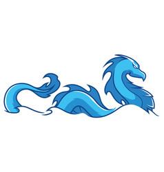 Water dragon mascot vector
