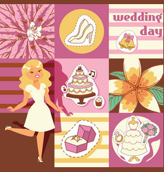 Wedding day background vector