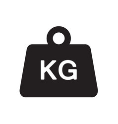 Weight kilogram icon vector