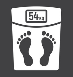 weight scale glyph icon fitness and sport vector image