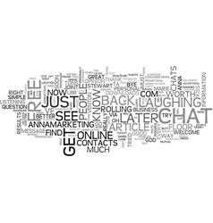 Where do you find your contacts text word cloud vector