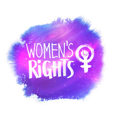 Womens rights lettering vector