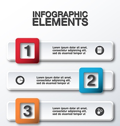 abstract 3d business infographic vector image vector image