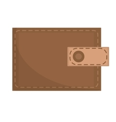 Brown wallet icon flat design isolated on white vector image vector image