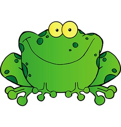 Fat Frog Cartoon Mascot Character vector image vector image