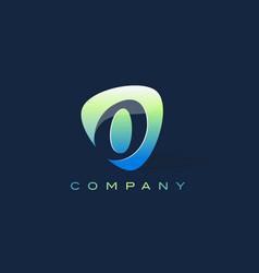 o letter logo oval shape modern design vector image vector image