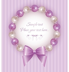 pearl bracelet vector image