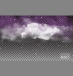 white cloudiness mist or smog background vector image
