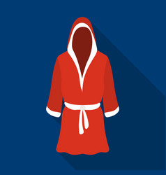 boxing robe icon in flate style isolated on white vector image