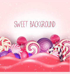 candy of pink land background vector image vector image