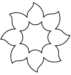 figure flower with pointed petals icon vector image