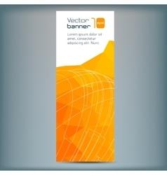 Modern banner with orange polygonal vector image vector image