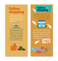 online shopping grocery flyers vector image vector image