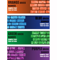 Polygon brick banner vector image vector image
