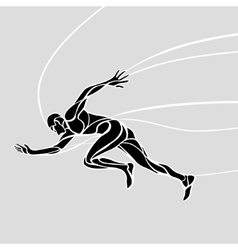 Running man abstract silhouette vector image vector image