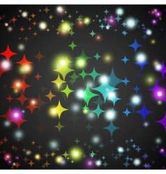 Abstract star glowing shape with lights and dark vector image