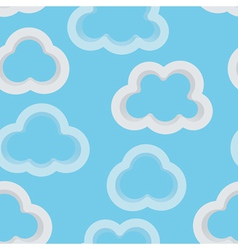 Clouds 3D vector image vector image