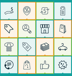 E-commerce icons set collection of spectator vector