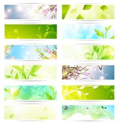 eco banner set vector image