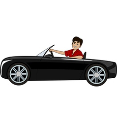 A man in a car vector image