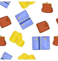 Finance pattern cartoon style vector image vector image