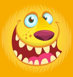 Furry monster face avatar vector