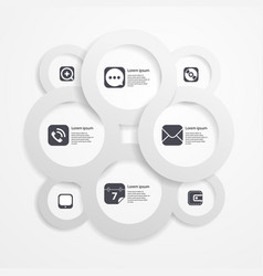 Paper circle infographic web template vector
