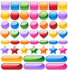 Set of colorful website buttons vector image vector image