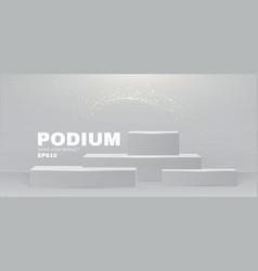 3d podium realistic minimal empty scene showcase vector image