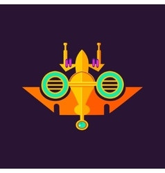 Abstract colorful spaceship vector