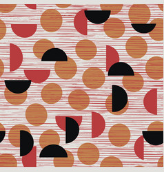Abstract dots and geometric shapes seamless vector