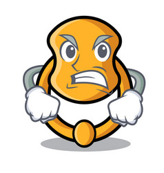 Angry elegant fashion door knocker mascot cartoon vector